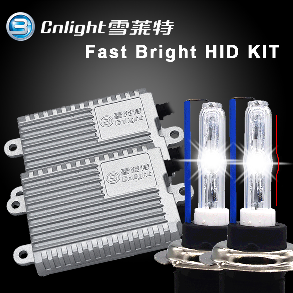 SKYJOYCE store Fast bright hid kit cnlight H7 H1 H11 9005 HB3 6000K quick start cnlight ball shape xenon hid bulb headlight 35W