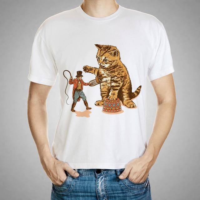 fdc7dba5e8c2 2016 marke Kleidung 3D T Hemd Männer Donner Katze Design Sommer Stil Mens T  Shirts Mode