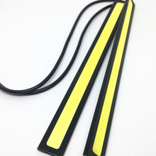 10 Pcs 17 Cm Tongkol DRL LED Strip DRL 12 V COB LED Bar Garis Aluminium Panel Mobil Lampu Kerja mengemudi Siang Hari Lari Lights(China)