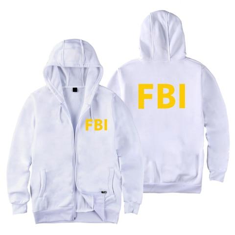 fashion Zipper Men women Hoodies Sweatshirts FBI Print sport hip hop Casual Zip Up Unisex Long Sleeve hoodie jacket coat top 4XL Lahore