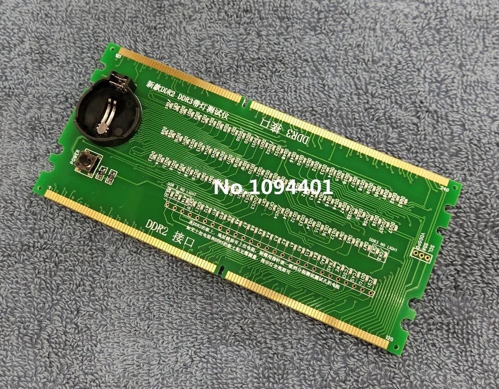 1 unids * nuevo escritorio DDR2 DDR3 memorry Ram tester slot con LED