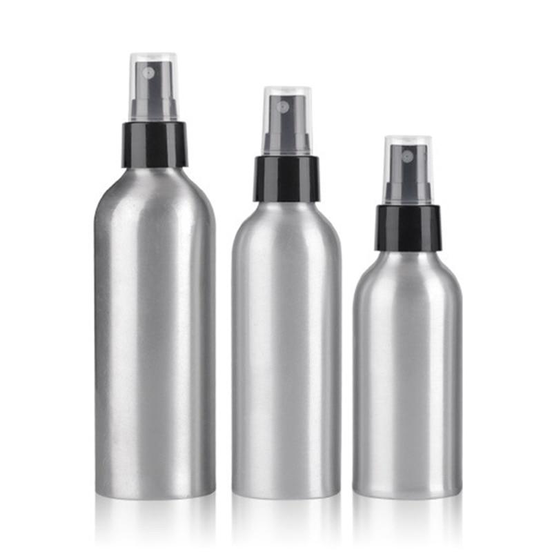 30ml 50ml 100ml 250ml Aluminium Spray Atomiser Bottle Refillable Empty Bottles Black Pump Atomizer For Cosmetic Packaging Tool