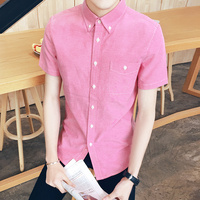 2016 New Clothes Short Sleeved Shirt Men S Casual Summer New Solid Colored Body Of Men