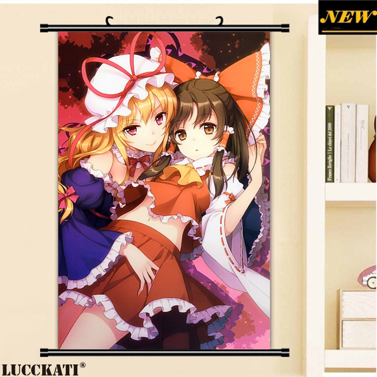 40X60CM Touhou Project Shrine Maiden Games Series loli cameltoe cartoon anime wall picture mural scroll canvas painting poster image