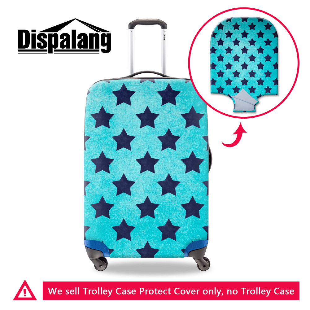 Dispalang 3D star travel suitcase baggage luggage cover for 18 <font><b>20</b></font> 22 <font><b>24</b></font> 26 28 30 inch case designer dust rain travel accessories image