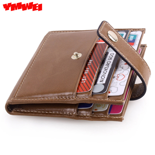 YMWEI The new 2016 really small leather buckles my wallet card package zero wallet for men and women general card holder
