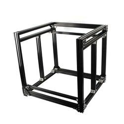 Czarny aluminium 2040 profil wytłaczania BLV mgn Cube zestaw ze szkieletem dla majsterkowiczów CR10 3D drukarki Z wysokość 365MM w Części i akcesoria do drukarek 3D od Komputer i biuro na