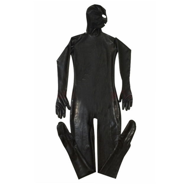 2018 XXL Jumpsuit men sexy Men Sexy Black Costumes Erotic Fetish Catsuit Latex PU Leather Bodysuit Play Clothes male Costume