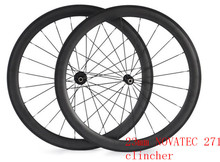free shipping carbon wheels 50mm 700C clincher width 23 mm NOVATEC 271  carbon road bike wheelset bicycle wheels