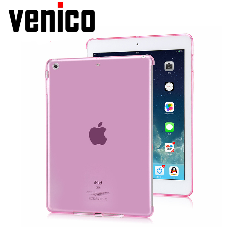 For ipad air 1 case tpu back cover soft protect crystal transparent bottom case with small gift for apple ipad 5 tpu case cover for ipad air