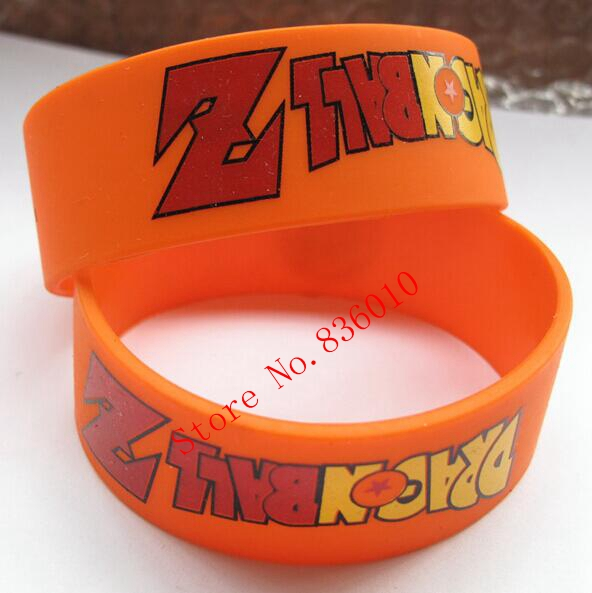 New 50 pcs Popular Dragon Ball Wristband Silicone Promotion Gift Filled In Color Bracelet Creative Gifts