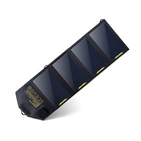 20W 5V Portable Solar Panel With Dual USB Port Charger Camping Power Bank For Smartphones And