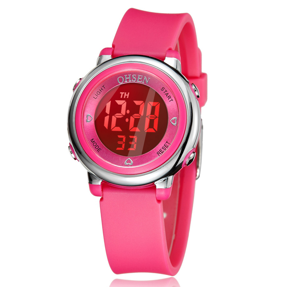 Children Watch Digital LED Waterproof Gift Kid Watches Alarm Men Clock OHSEN Fashion Sport Watches Cute Boys Girls Wrist Watch