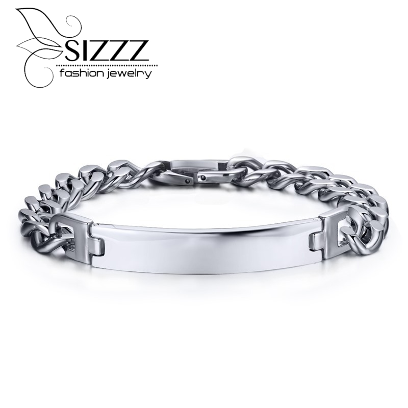 High Quality Men Jewelry Bracelet Silver Plated Stainless Steel Classical Style Bracelet Hand Chain Real Fashion