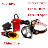 Newest Brightest Cree 10W Led Headlight Mining Head Lamp for Hunting Fishing head Light Free Shipping