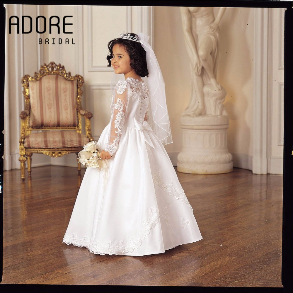 8315f999ad6f4 Long Sleeve Flower Girl Dress Au