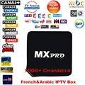 1 Año Europa Caja IPTV Árabe Alemán Francés del REINO UNIDO españa Africa Vivo IPTV MXpro Quad Core Android IPTV Media Europa jugador