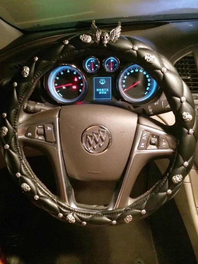 Personalized-Retro-Alloy-Skull-Leather-Grip-Car-Steering-Wheel-Covers-15-inch-38CM-1