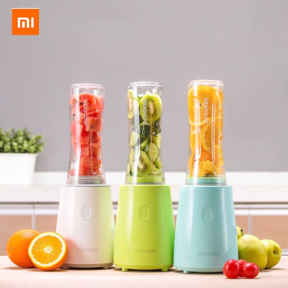 Xiaomi mijia Ocooker Stainless Steel Youth Portable Portable Juicer Fruit and Vegetable Cooking Machine Point Switch Dustproof xiaomi ocooker portable juicer baby fruit and vegetable cooking machine low noise cooling system dustproof design diy drinks