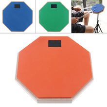 8 Inch Rubber Wooden Dumb Drum Practice Training Pad for Jazz Drums Exercise with 3 Colors Optional