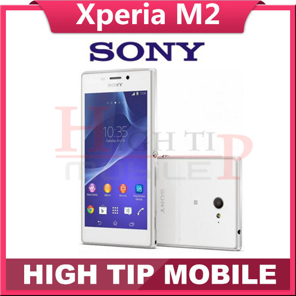 Unlocked Original Xperia m2 D2303 Cell Phones Android OS Quad Core 4 8 inch touchscreen 8MP