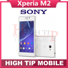 Unlocked Original Xperia m2 D2303 Cell Phones Android OS Quad Core 4.8 inch touchscreen 8MP free shipping Refurbished