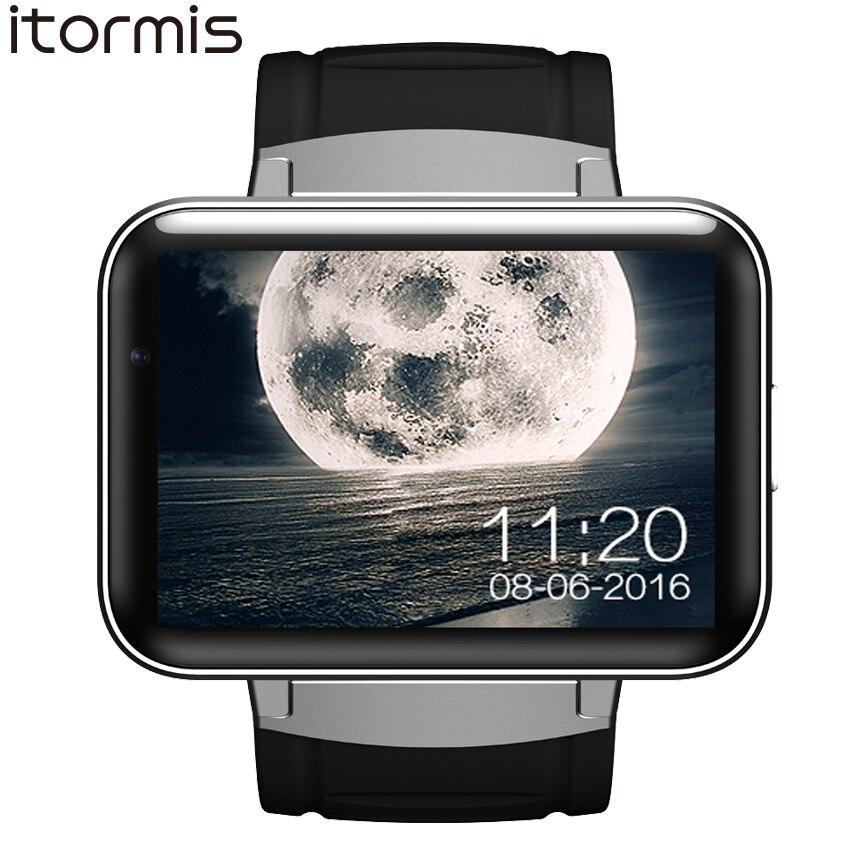 ITORMIS Android Smart Montre Smartwatch Montre-Bracelet Grande Batterie 3g SIM WiFi Caméra GPS MTK6572 Dual Core 4g ROM 512 RAM DM98