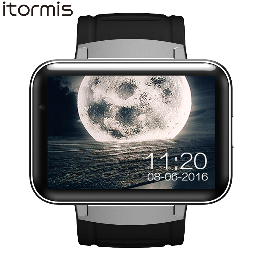 ITORMIS Android Smart Watch Smartwatch Wristwatch Big Battery 3G SIM WiFi Camera GPS MTK6572 Dual Core 4G ROM 512 RAM DM98