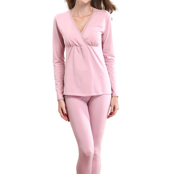Maternity Pajama Set Nursing Breastfeeding nightwear Pregnancy pyjamas Suit Postpartum Nursing sleepwear in Spring Autumn Winter