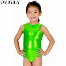 OVIGILY Girls Silver Ballet Dance Leotards Children Lycra Red Tank Dancewear Kids Shiny Metallic Gymnastics Suits for Boys(China)