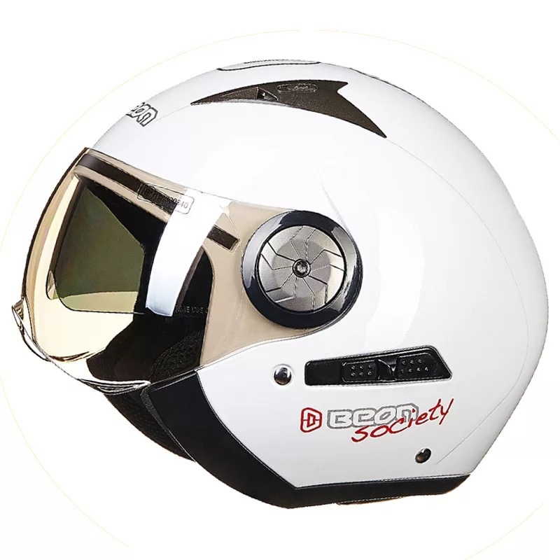 Motorcycle helmet half helmet retro double lens helmet motorcycle helmet men and women fashion