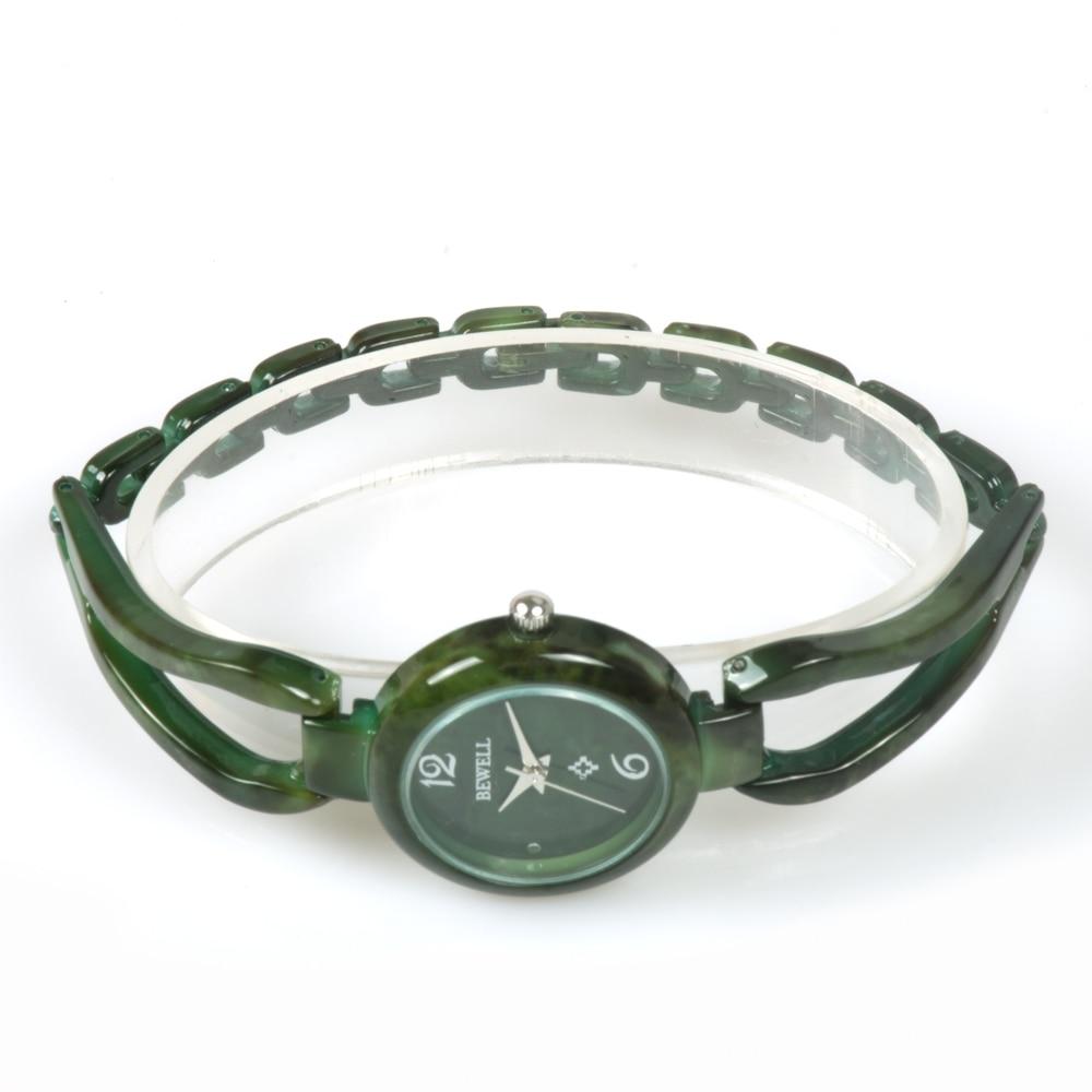 Image 4 - BEWELL Ladies Jade Watches Women Top Luxury Brand Waterproof Gem Watch New Bracelet Gem Watch For Gril As Gift Male Friends 077Asummer summersummer newsummer bracelet -