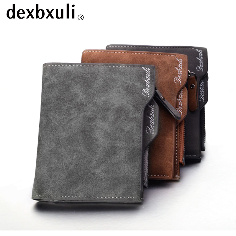 Matte Wallet Men Soft Leather Wallet With Removable Card Slots Multifunction Men Wallet Purse Male Clutch Top Quality