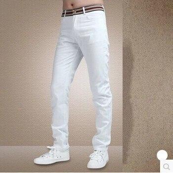 ICPANS Pants Casual Basic Clasic Fashion Cotton Full Length Skinny White Pants Men Business Pants Men Regular Fit Men Pants фото