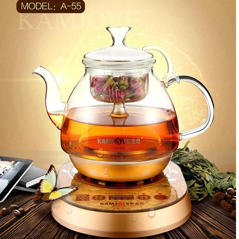 KAMJOVE A 55 czajnik elektryczny gotowane herbata czajnik elektryczny maszyny automatyczne wrzącej herbaty szklany garnek wrzenia pary dzbanek do herbaty w Dzbanki do herbaty od Dom i ogród na AliExpress - 11.11_Double 11Singles' Day 1