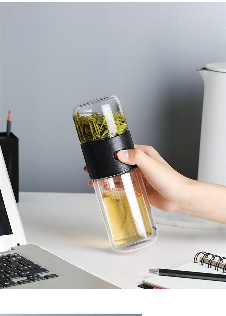 acheter thermos avec infuseur avec séparartion pour le thé ou infusion pas cher
