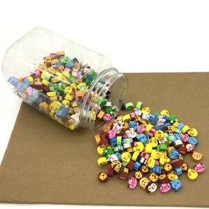 Image 1 - Borracha kawaii, lote de mini animais fofos, apagadores de coração, borracha, para crianças, acessórios para a escola, lápis, suplementos papelaria com 400 peças