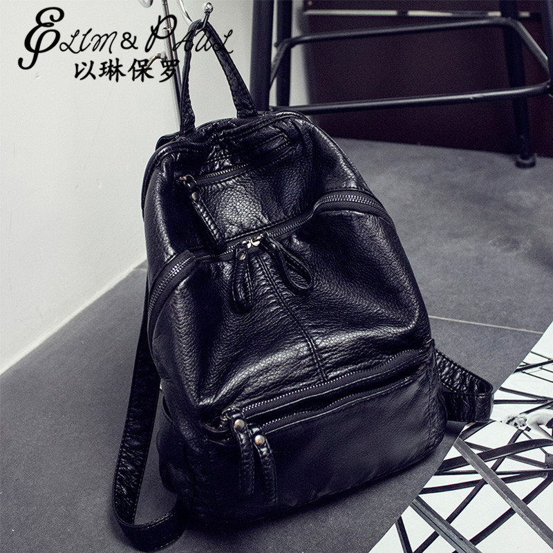2017 Fashion summer new Korean fashion leather shoulder bag multi functional lady high quality quality backpack