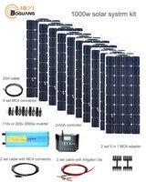 Boguang 1000 Вт Солнечный Системы комплект 10*100 Вт солнечные панели модуля 50A контроллер 2000 Вт инвертор разъем адаптера батарея мощность заряда