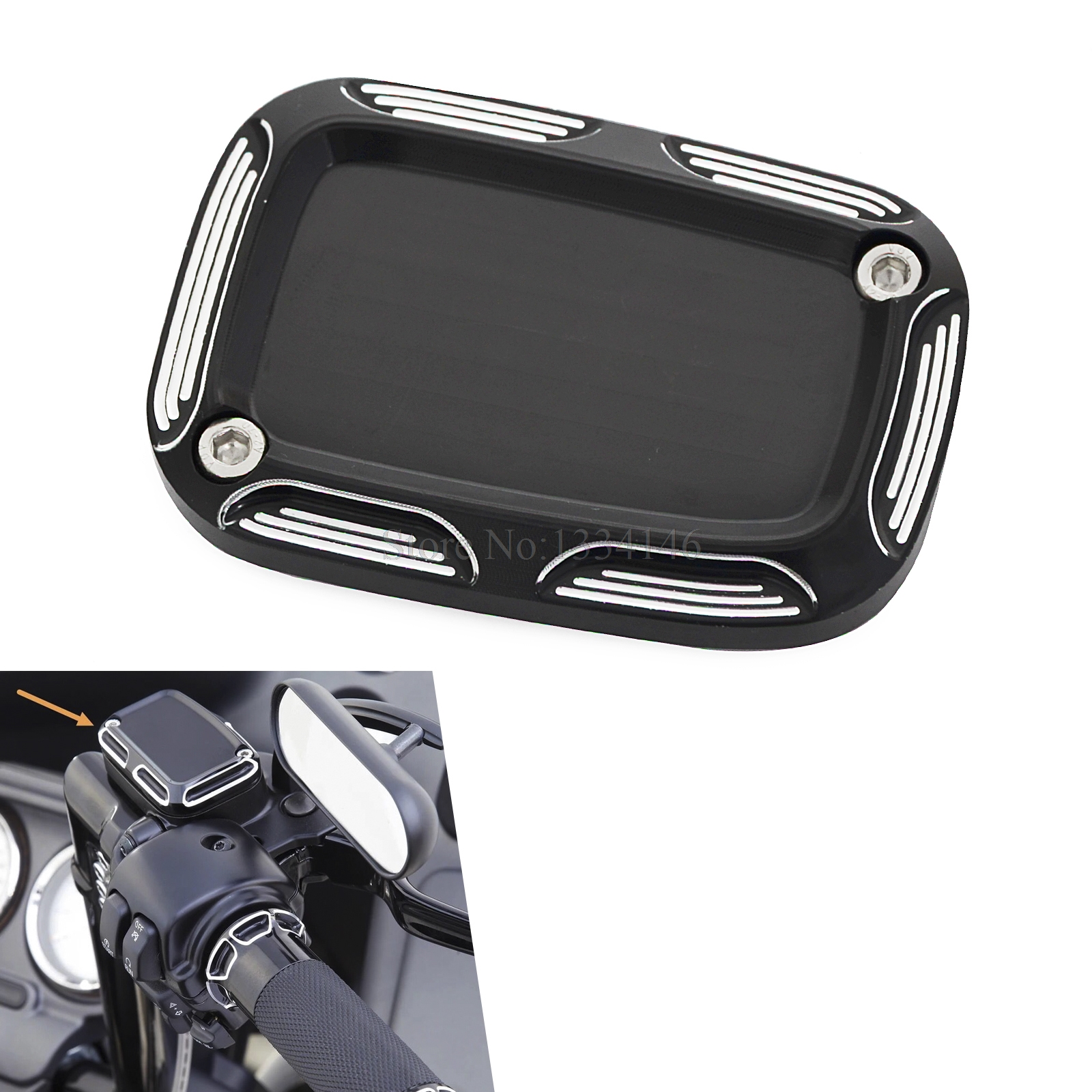 NICECNC Front Brake Master Cylinder Cover Cap For Harley Touring CVO Road King Electra Glide Ultra Classic VRSCAW VRSCR 06-2018 magnum black pearl upper front brake line 33 90 for harley