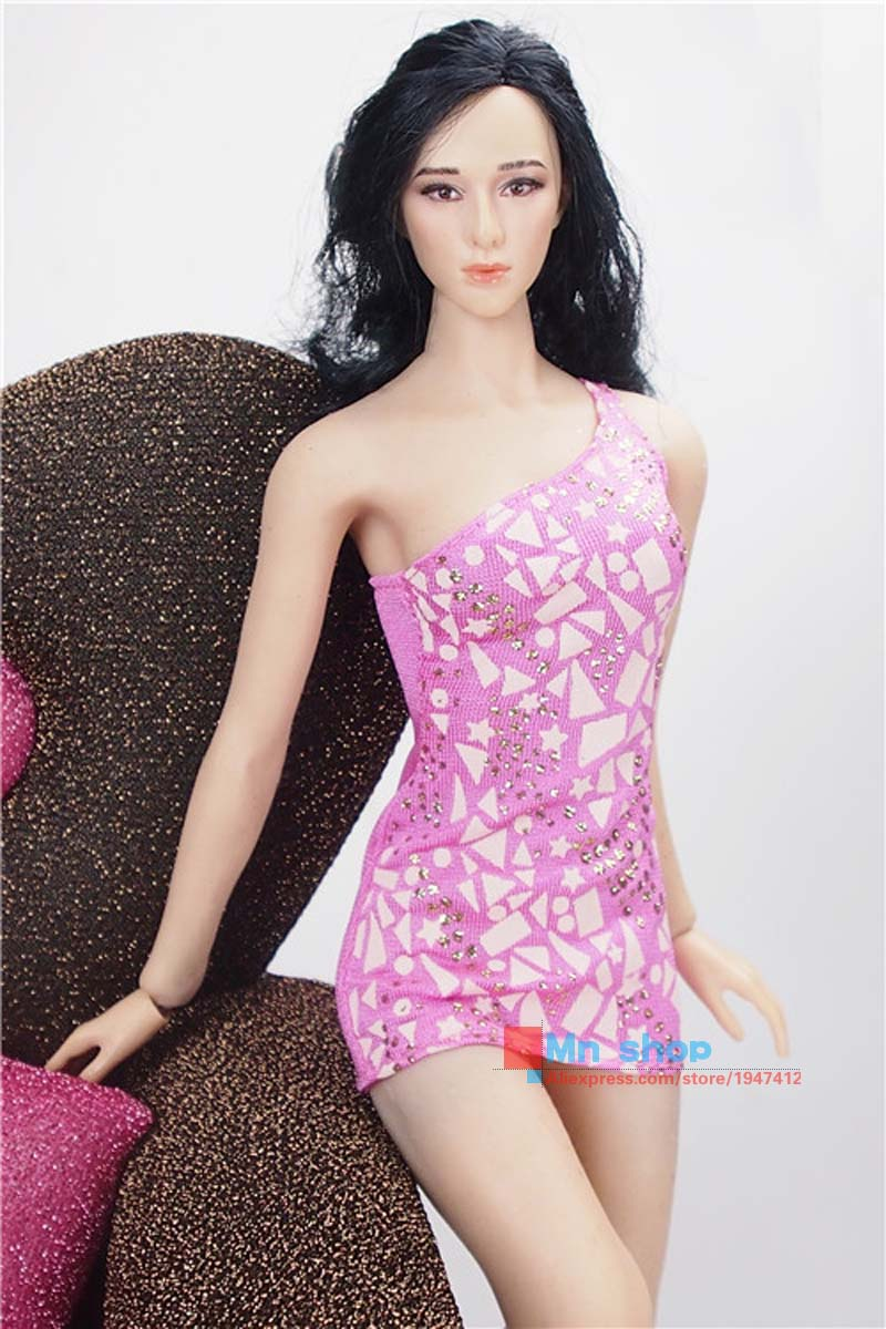 1/6 Scale Pink Tight skirt for Female Seamless Body Action Figure Clothes For 12 Phicen Doll Toys Accessories P65
