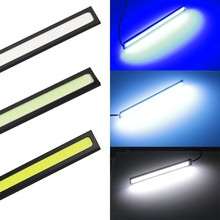 2 Piece Daytime Running Light COB DRL LED Car Lamp External Lights Auto Waterproof Styling Led Assembly