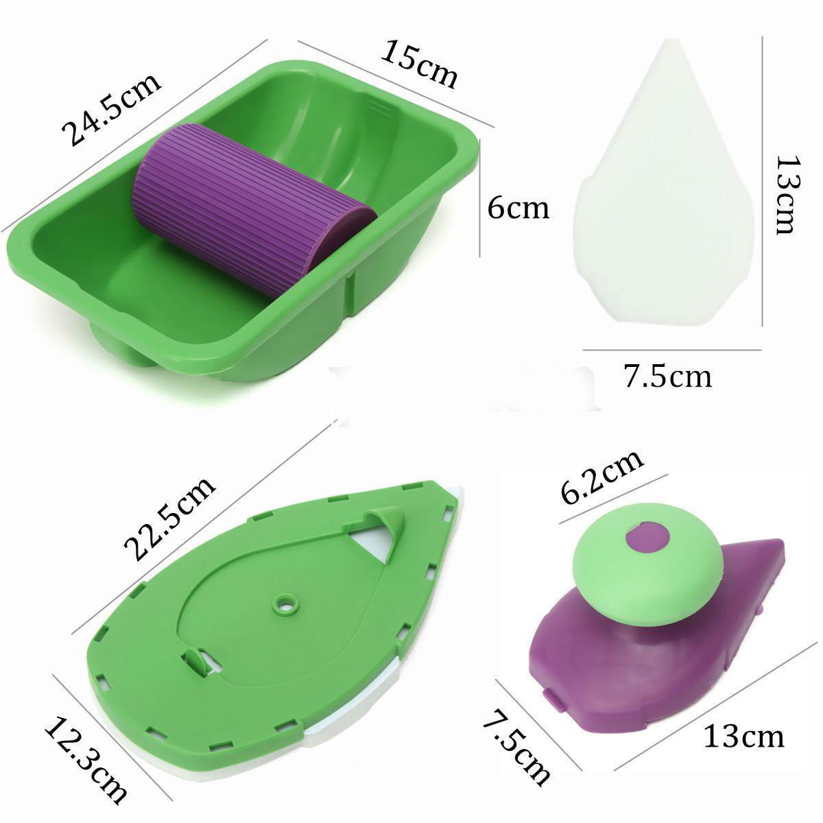 1 Set Paint Roller Tray Kit Household Decor Painting Brush Point Products 2pdt Dpdt Latching Stomp Foot Pedal Push Button Switch Pcb Aeproductgetsubject