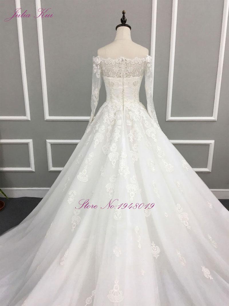Liyuke Robe De Mariage A Line Prinses Bruidsjurk Uit De Schouder - Trouwjurken - Foto 2