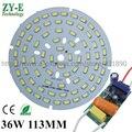 2 Conjunto AC 220 V placa de Alumínio PCB LED Com SMD5730 36 W 113/120 MM com o Motorista Dentro LEVOU baía luz luz de Teto Lâmpada LED freeship