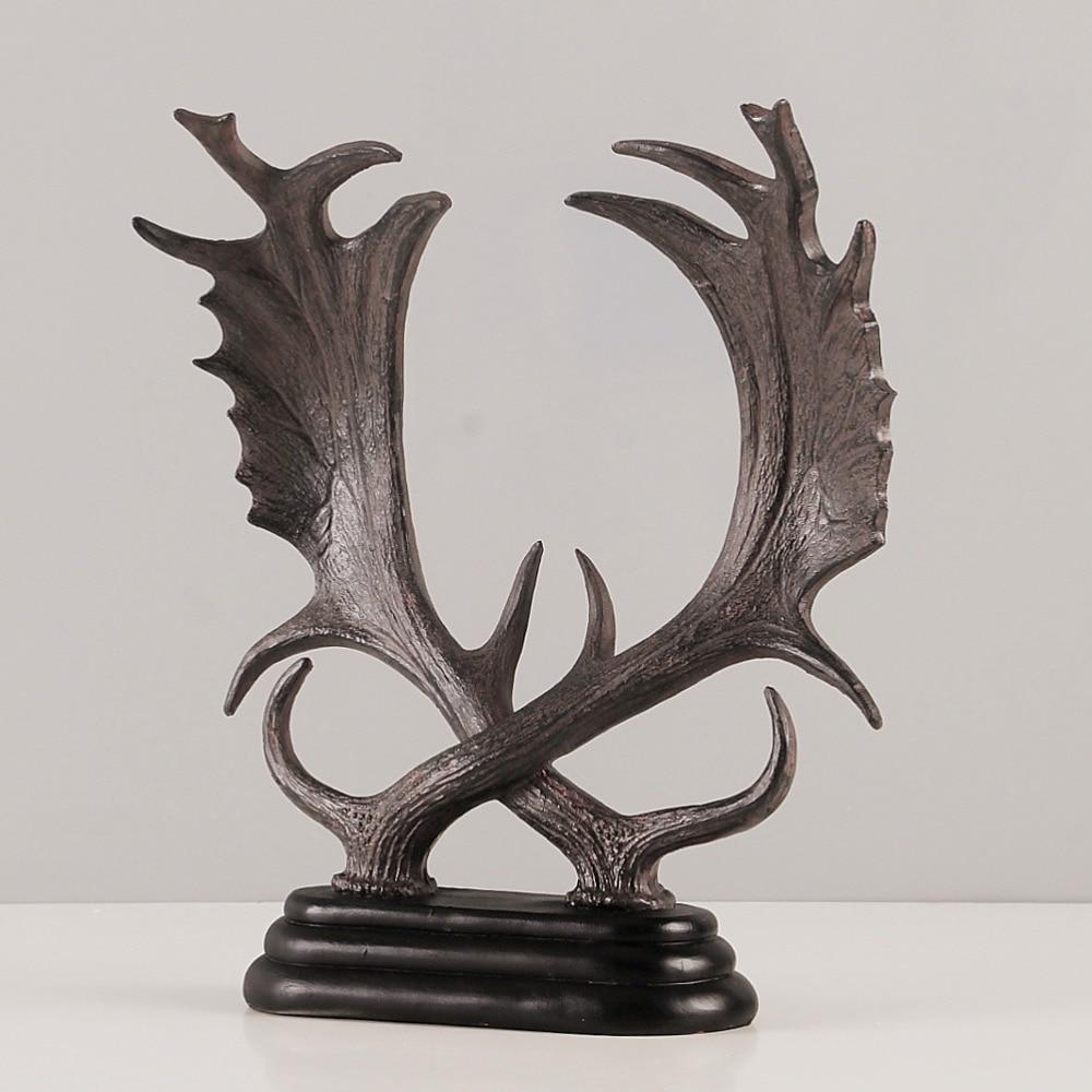 decoracin para el hogar creativo reno escultura abstracta decoracin estatuilla estatua de resina decorativa de televisin