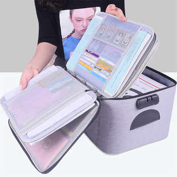 High Quality Large Capacity Document Storage Bag Box Waterproof Document Bag Organizer Papers Storage Pouch Travel File Bag - DISCOUNT ITEM  51% OFF All Category