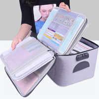 Wysokiej jakości o dużej pojemności dokument pudełko torba do przechowywania wodoodporny aktówka organizator dokumentów pokrowiec podróży torba na dokumenty