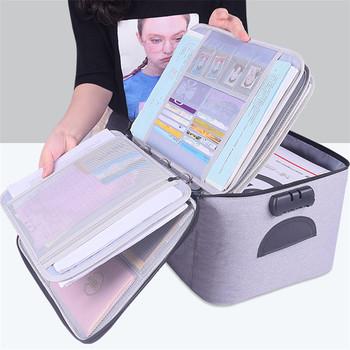 Wysokiej jakości o dużej pojemności dokument pudełko torba do przechowywania wodoodporny dokument organizator do torby papiery pokrowiec podróży torba na dokumenty tanie i dobre opinie SAIMOSYL NYLON Brak Na co dzień Miękki uchwyt 27cm Teczki 37cm Unisex zipper Poliester 0 5kg oxford 20cm Stałe WJB018
