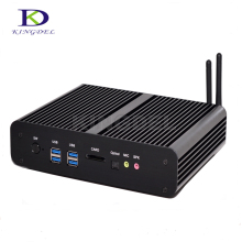 Micro pc мини-компьютер Intel Core i7 5500u dual core Intel HD графика 5500 Dual HDMI Dual LAN порт Карточки SD TV Box Неттоп